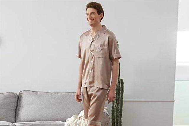男款丝绸睡衣