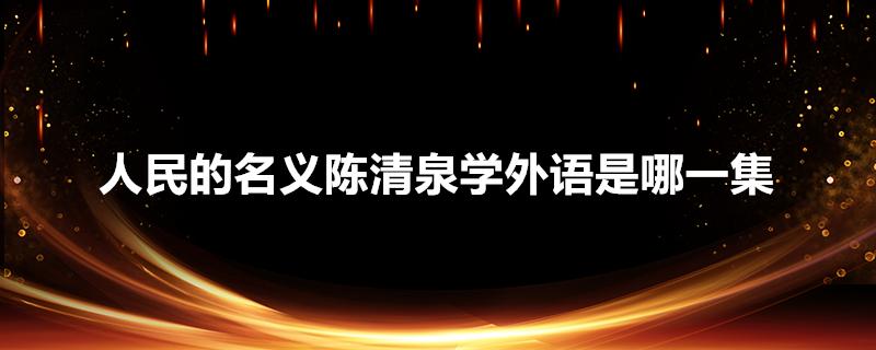 人民的名义陈清泉学外语是哪一集