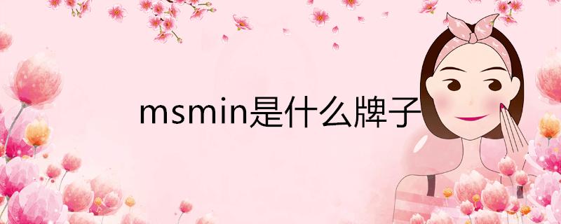 msmin是什么牌子