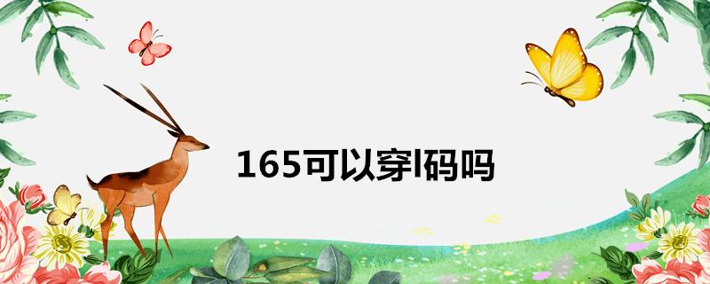 165可以穿l码吗
