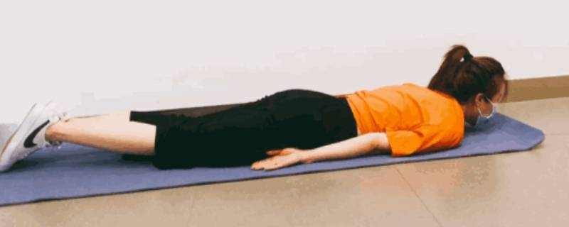 俯卧交替腿怎么做(俯卧伸屈腿怎么做)插图