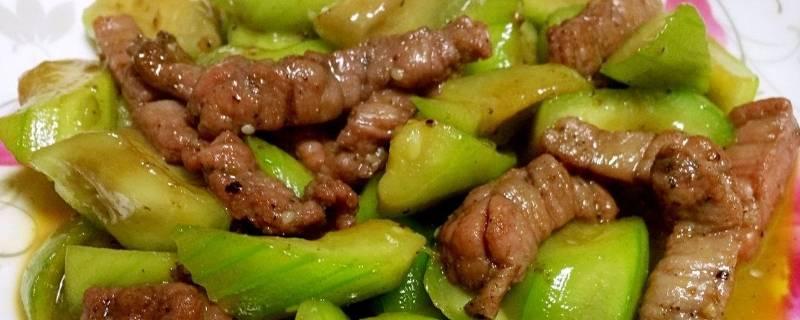 丝瓜和牛肉可以一起吃吗