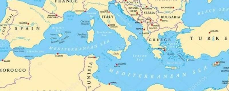 地中海在哪个位置